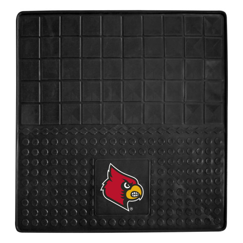 """31"""" x 31"""" Black and Red NCAA University of Louisville Cardinals Cargo Mat for Car Trunk - IMAGE 1"""
