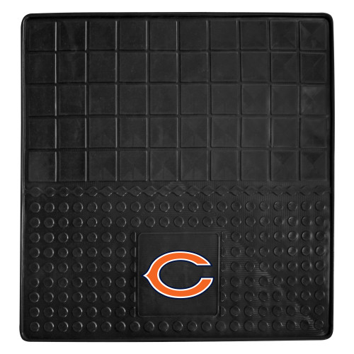 """31"""" x 31"""" Black and Orange NFL Chicago Bears Cargo Mat for Car Trunk - IMAGE 1"""