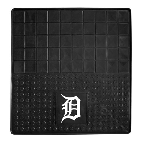 """31"""" x 31"""" Black and White MLB Detroit Tigers Cargo Mat for Car Trunk - IMAGE 1"""