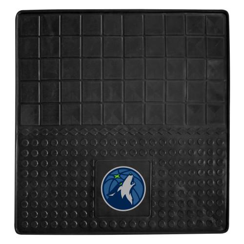 """31"""" x 31"""" Black and Blue NBA Minnesota Timberwolves Cargo Mat - IMAGE 1"""