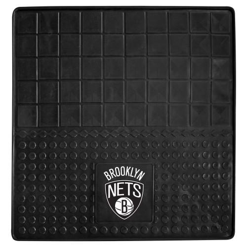 "31"" x 31"" Black and White NBA Brooklyn Nets Cargo Mat - IMAGE 1"