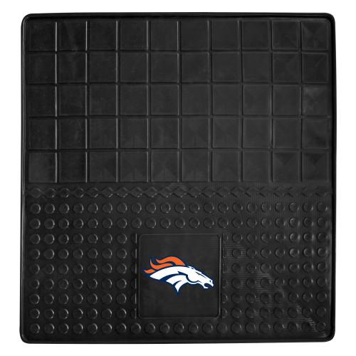"31"" x 31"" Black and White NFL Denver Broncos Cargo Mat - IMAGE 1"