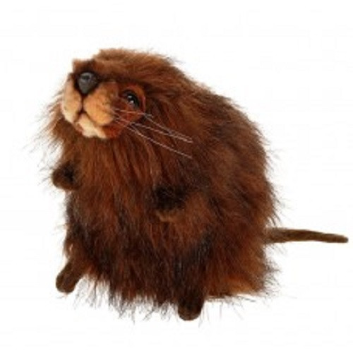 "Set of 3 Brown Handcrafted Soft Plush Muskrat Stuffed Animals 8.5"" - IMAGE 1"