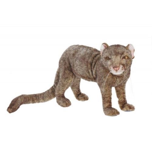 "Set of 2 Brown and Gray Handcrafted Soft Plush Jaguarundi Stuffed Animals 19.75"" - IMAGE 1"