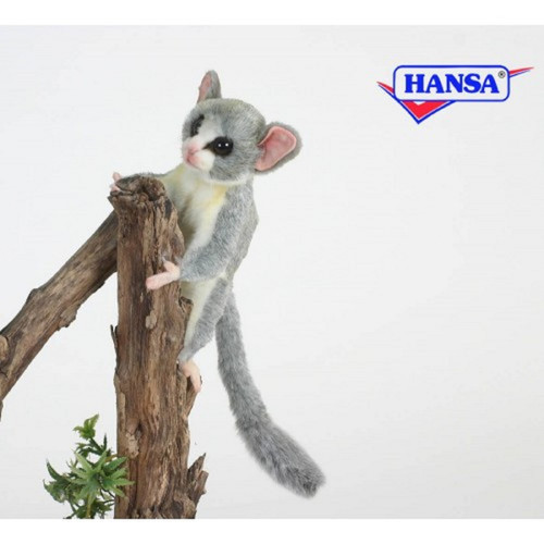 "Set of 3 Gray and White Handcrafted Soft Plush Senegal Bush Baby Stuffed Animals 7.75"" - IMAGE 1"
