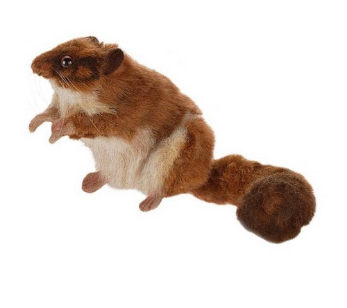 """Set of 4 Brown and White Handcrafted Soft Plush Leadbeater's Possum Stuffed Animals 11"""" - IMAGE 1"""