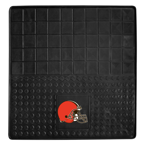 """31"""" x 31"""" Black and Red NFL Cleveland Browns Cargo Mat - IMAGE 1"""