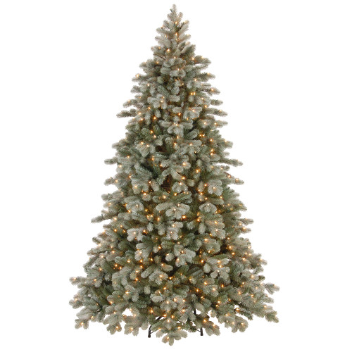 7.5' Pre-Lit Frosted Colorado Spruce Artificial Christmas Tree – Clear Lights - IMAGE 1