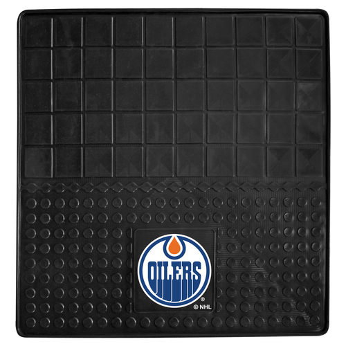 "31"" x 31"" Black and Blue NHL Edmonton Oilers Cargo Mat - IMAGE 1"