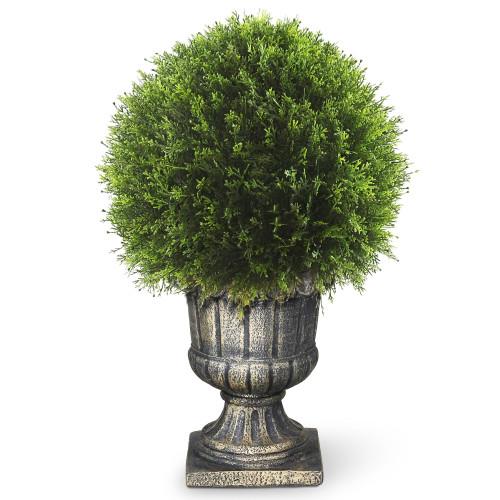 "27"" Upright Juniper Ball Topiary Tree in Urn - Unlit - IMAGE 1"