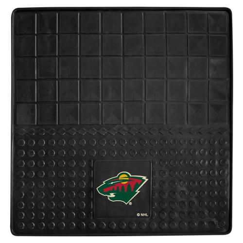 "31"" x 31"" Black and Green NHL Minnesota Wild Cargo Mat - IMAGE 1"