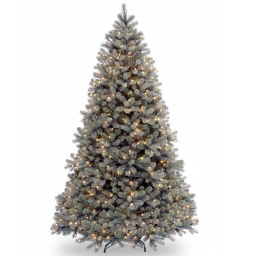 7.5' Pre-Lit Downswept Douglas Blue Fir Artificial Christmas Tree – Clear Lights - IMAGE 1