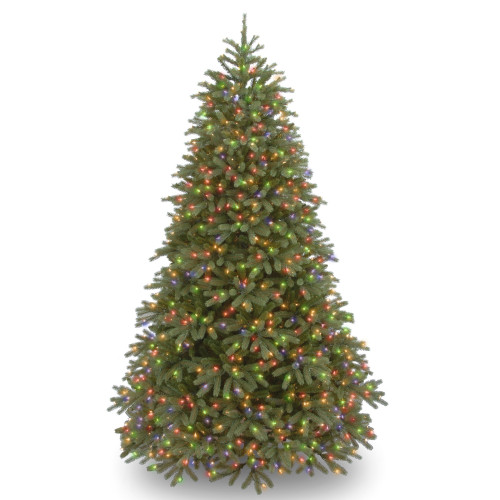 7.5' Pre-Lit Jersey Fraser Fir Artificial Christmas Tree – Multi-color - IMAGE 1