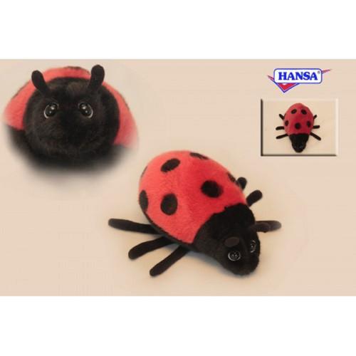 "Set of 6 Red and Black Handcrafted Soft Plush Ladybug Stuffed Animals 6.5"" - IMAGE 1"