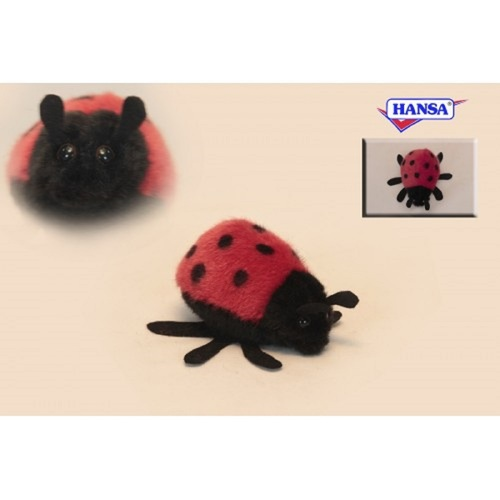 "Set of 8 Red and Black Handcrafted Soft Plush Mini Ladybug Stuffed Animals 3.5"" - IMAGE 1"