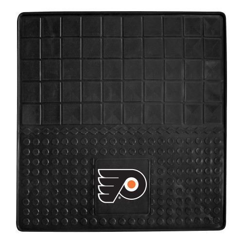 "31"" x 31"" Black and White NHL Philadelphia Flyers Cargo Mat - IMAGE 1"