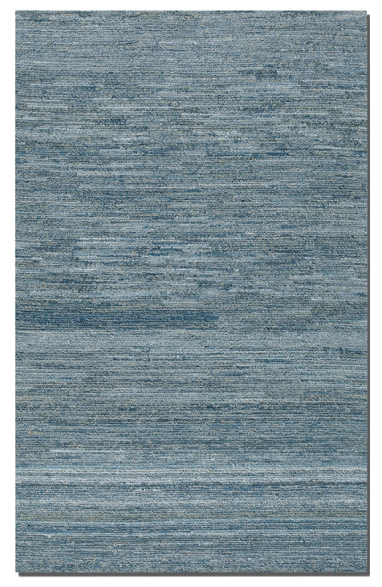 9' x 12' Genova Striated Blue Hand Tufted Recycled Denim and Wool Area Throw Rug - IMAGE 1