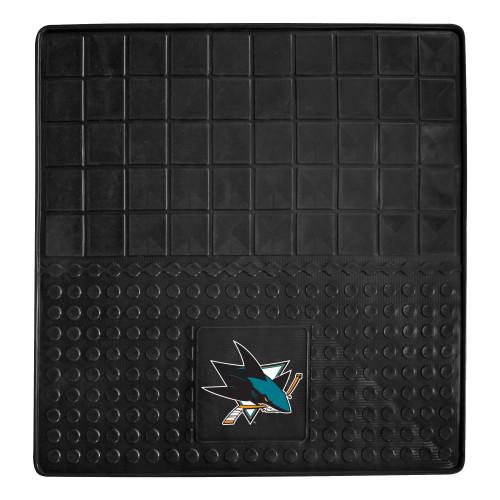 "31"" x 31"" Black and Teal Blue NHL San Jose Sharks Cargo Mat - IMAGE 1"