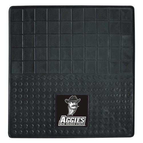 """31"""" x 31"""" Black and White NCAA New Mexico State University Aggies Cargo Mat for Car Trunk - IMAGE 1"""