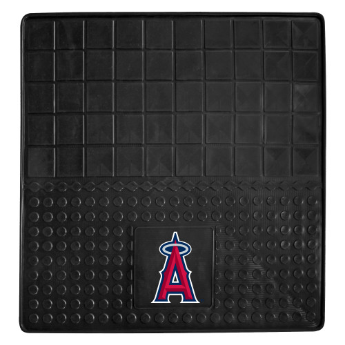 """31"""" x 31"""" Black and Red MLB Los Angeles Angels Cargo Mat for Car Trunk - IMAGE 1"""