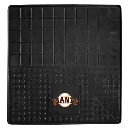 """31"""" x 31"""" Black and White MLB San Francisco Giants Cargo Mat for Car Trunk - IMAGE 1"""