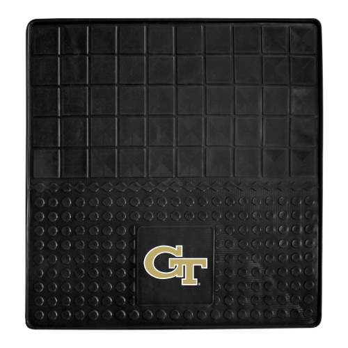 """31"""" x 31"""" Black and White NCAA Georgia Tech Yellow Jackets Cargo Mat for Car Trunk - IMAGE 1"""