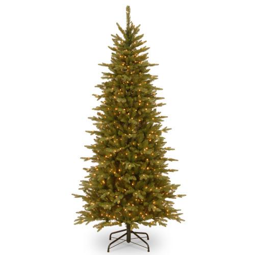 7.5' Pre-Lit Sierra Spruce Slim Artificial Christmas Tree – Clear Lights - IMAGE 1