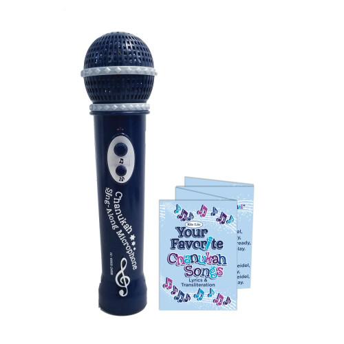 "7.5"" Black Musical Microphone With 5 Hanukkah Songs - IMAGE 1"