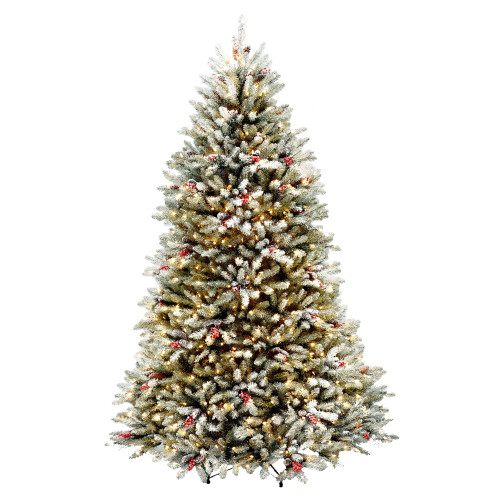 7.5' Dunhill Fir Artificial Christmas Tree with Red Berries - Clear Lights - IMAGE 1