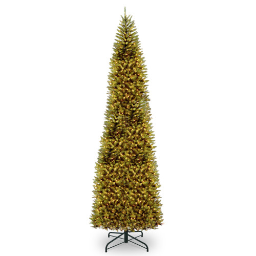 14' Pre-lit Kingswood Fir Pencil Artificial Christmas Tree – Clear Lights - IMAGE 1