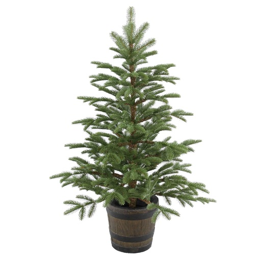 4' Potted Norwegian Spruce Entrance Artificial Christmas Tree – Unlit - IMAGE 1