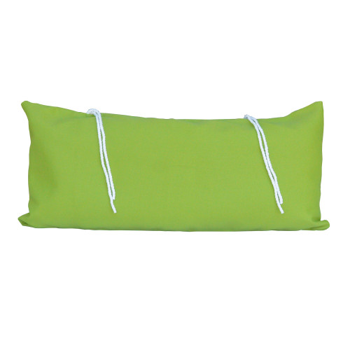 """33"""" Lime Green Hammock Rectangular Pillow with Tie-offs - IMAGE 1"""