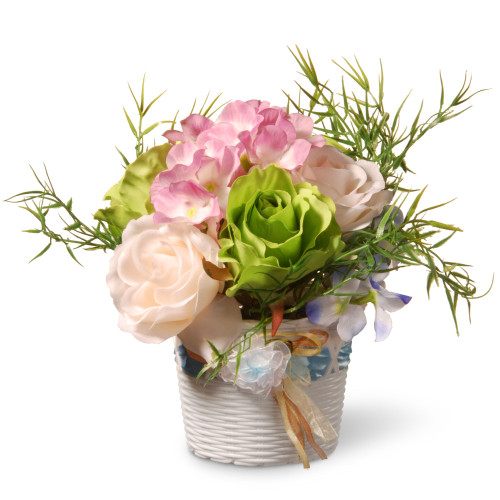 """7"""" Potted Assorted Rose Flower - IMAGE 1"""