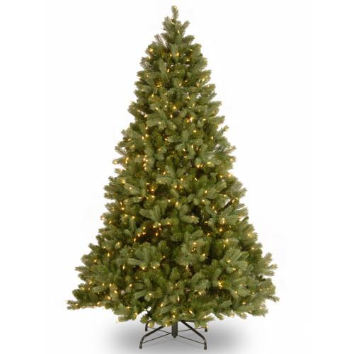 7' Pre-Lit Downswept Douglas Fir Artificial Christmas Tree - Clear Lights - IMAGE 1