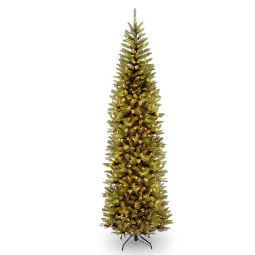 9' Pre-lit Kingswood Fir Pencil Artificial Christmas Tree –Clear Lights - IMAGE 1