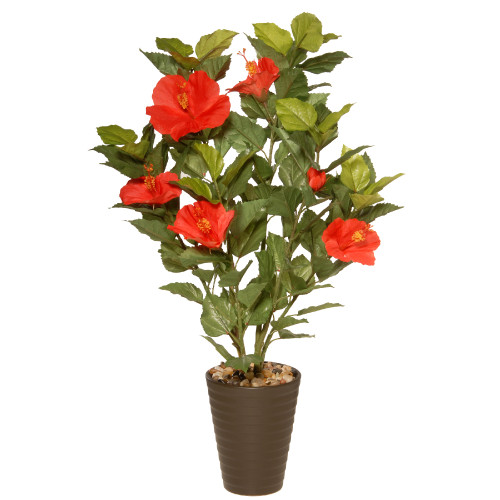 """22"""" Potted Hibiscus Artificial Plant - IMAGE 1"""