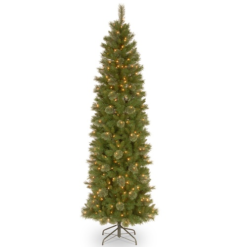 9' Pre-Lit Tacoma Pine Artificial Christmas Tree - Clear Lights - IMAGE 1