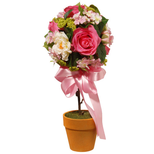 """14""""Rose and Hydrangea Topiary - IMAGE 1"""