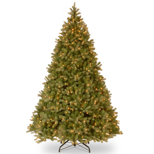 10' Pre-Lit Downswept Fir Artificial Christmas Tree - Clear Lights - IMAGE 1