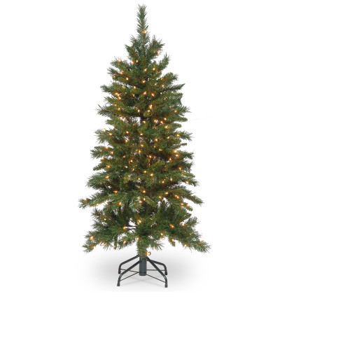4.5' Pre-Lit Tiffany Fir Artificial Christmas Tree - Clear Lights - IMAGE 1