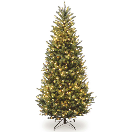 9' Pre-Lit Natural Fraser Slim Fir Artificial Christmas Tree – Clear Lights - IMAGE 1