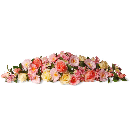 """33"""" Pink Spring Flowers Artificial Swag - IMAGE 1"""