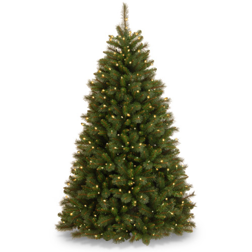 6.5' Pre-Lit Rocky Ridge Pine Artificial Christmas Tree - Clear Lights - IMAGE 1