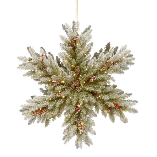 "32"" Pre-Lit B/O Dunhill Fir Double Sided Artificial Christmas Snowflake – LED Lights - IMAGE 1"