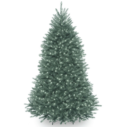 7' Pre-Lit Dunhill Blue Fir Hinged Artificial Christmas Tree - Clear Lights - IMAGE 1