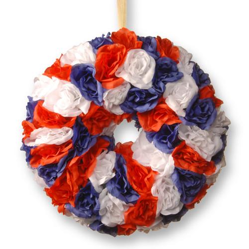 """14"""" Patriotic Rose Wreath - IMAGE 1"""
