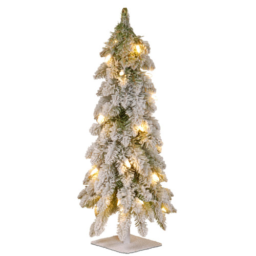 """24"""" Pre-Lit Snowy Downswept Artificial Christmas Tree – Clear Lights - IMAGE 1"""
