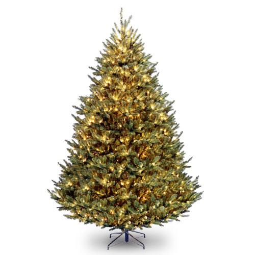 9' Pre-Lit Full Fir Hinged Artificial Christmas Tree – Clear Lights - IMAGE 1