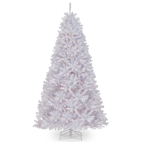 9' Pre-Lit North Valley White Spruce Artificial Christmas Tree - Clear Lights - IMAGE 1