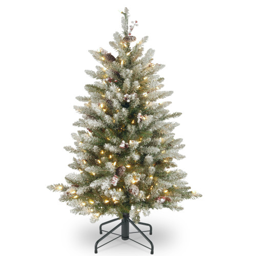4.5' Dunhill Fir Artificial Christmas Tree with Red Berries - Clear Lights - IMAGE 1